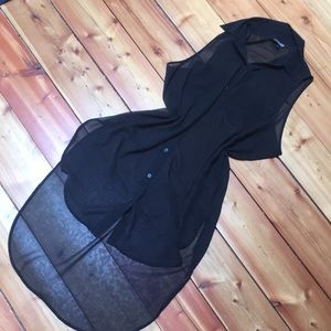 Sheer black tunic from express size xs
